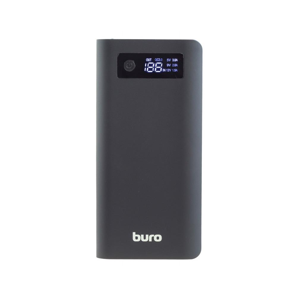 лучшая цена Мобильный аккумулятор Buro RB-20000-LCD-QC3.0-I&O Li-Ion 20000mAh 3A+1.5A, цвет: черный