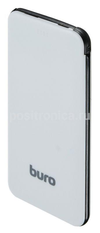 Мобильный аккумулятор Buro RCL-5000-BW Li-Pol 5000mAh 1A, цвет: черный, белый мобильный аккумулятор buro rcl 8000 wg li pol 8000mah 2 1a белый серый 2xusb