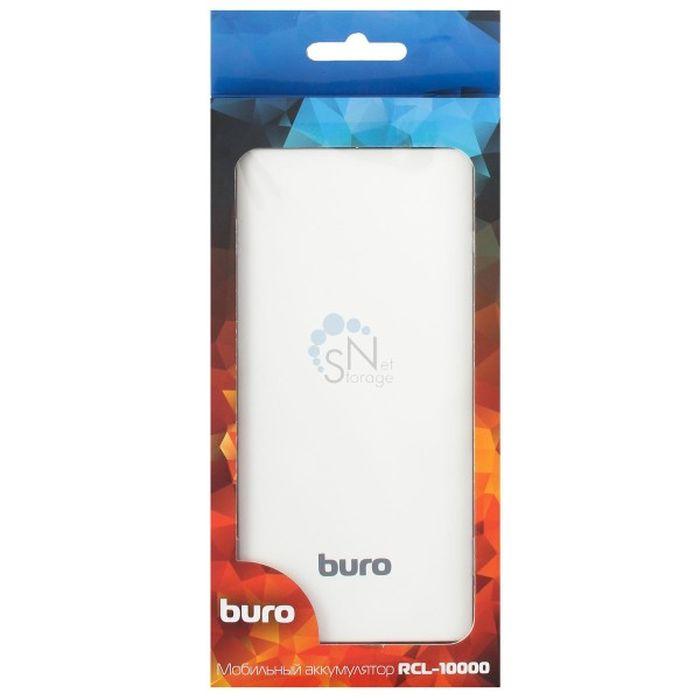 Мобильный аккумулятор Buro RCL-10000-WG Li-Pol 10000mAh 2.1A белый/серый 2xUSB мобильный аккумулятор buro rcl 8000 wg li pol 8000mah 2 1a белый серый 2xusb