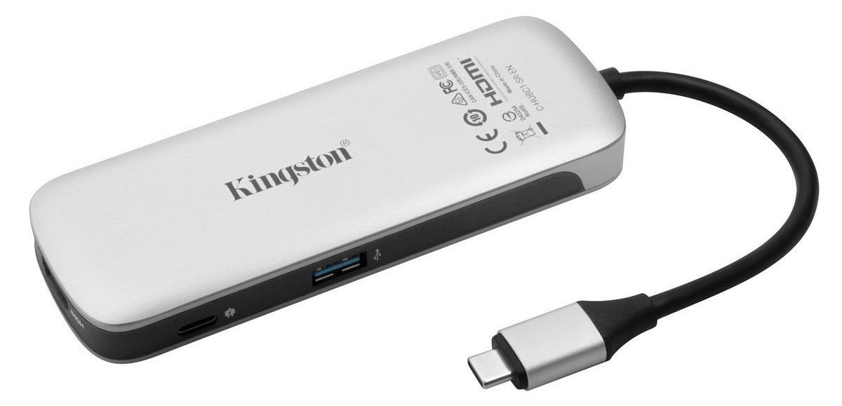 Фото - Устройство чтения карт памяти Kingston Nucleum USB3.0, C-HUBC1-SR-EN, серебристый устройства чтения карт памяти