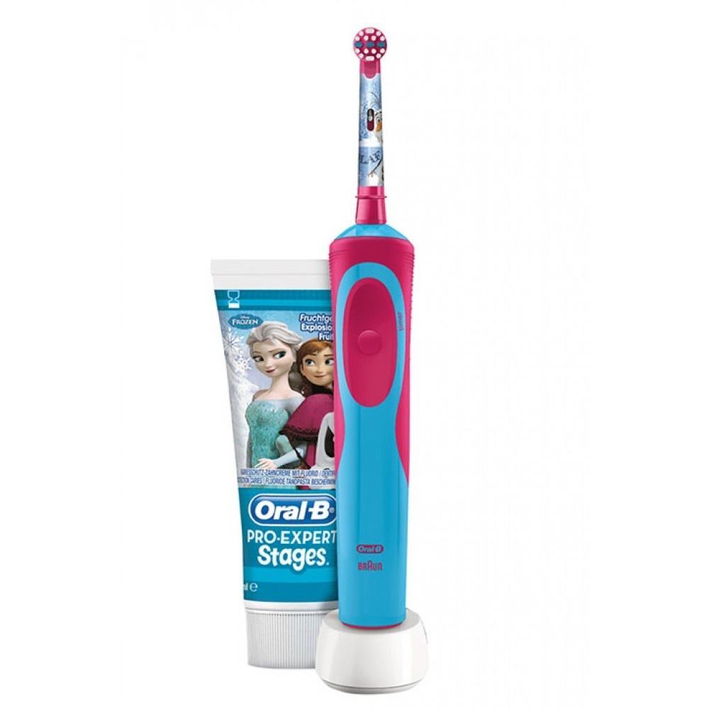 Детская электрическая зубная щетка Braun Oral-B Vitality D14.513K Frozen Kids + Зубная паста, 81633900