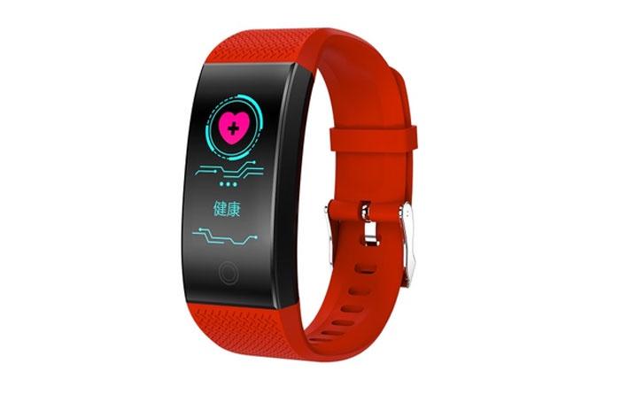Фитнес-браслет ZDK QW18, красный нестерова д полный счетчик калорий