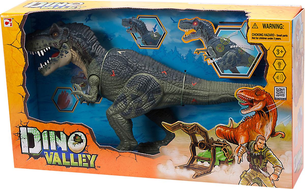 Игровой набор Chap Mei Подвижная фигура Тираннозавр Рекс, 542051, коричневый, красный цена
