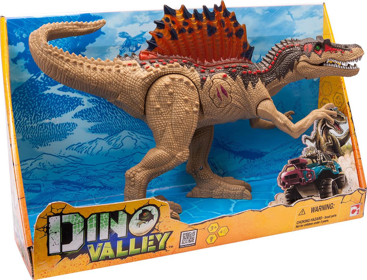 Игровой набор Chap Mei Подвижная фигура Спинозавр, 542065, зеленый, желтый, серый, оранжевый цена