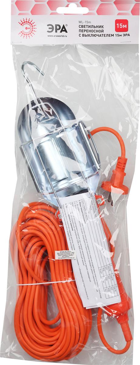 цена на Светильник переносной ЭРА с выключателем, WL-15m, 15 м