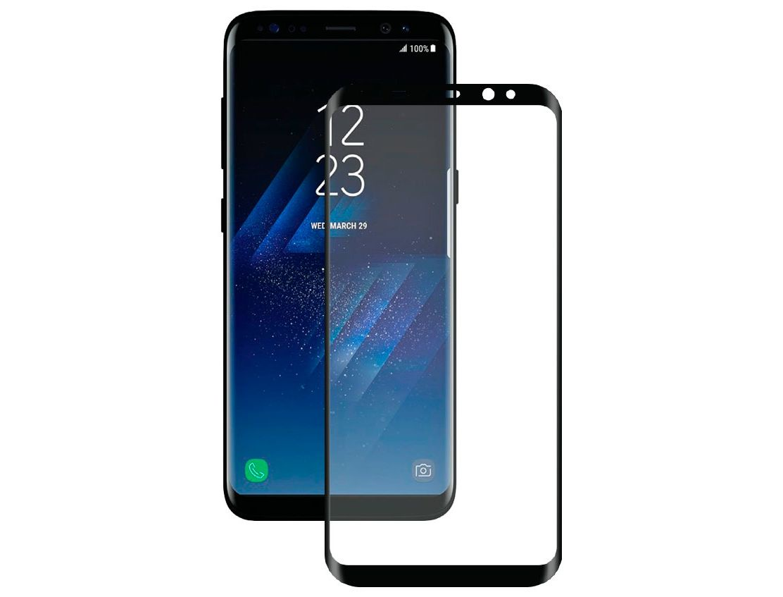 Защитное стекло TipTop 5D для Samsung Galaxy S8 Full, 4605180005089, черный чехол samsung eb wg95ebbrgru для samsung galaxy s8 защитное стекло черный