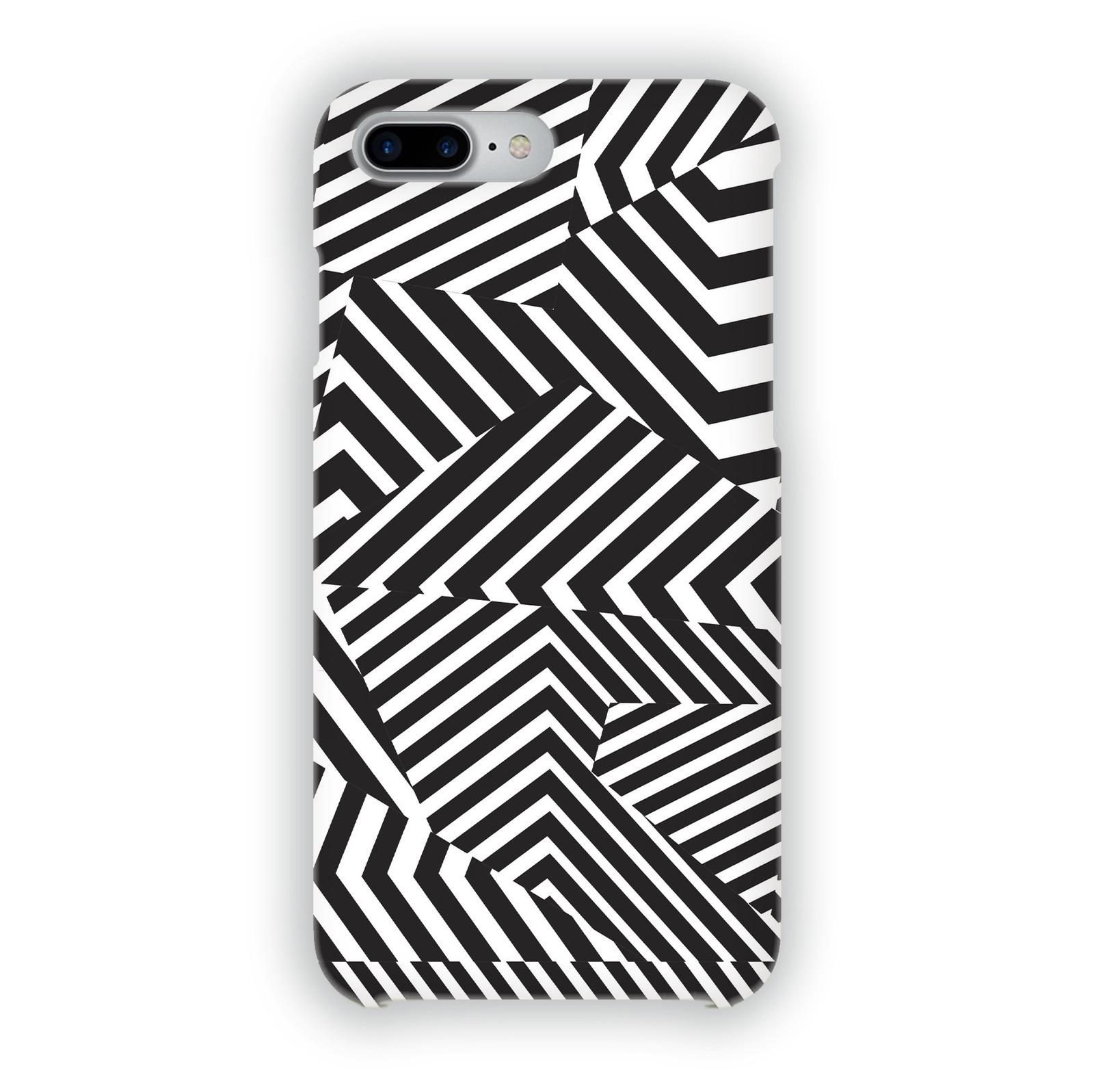 "Чехол Mitya Veselkov ""Черно-белая геометрия"" для iPhone 7 Plus/8 Plus, IP7PLUS.MITYA-026, черный, белый"