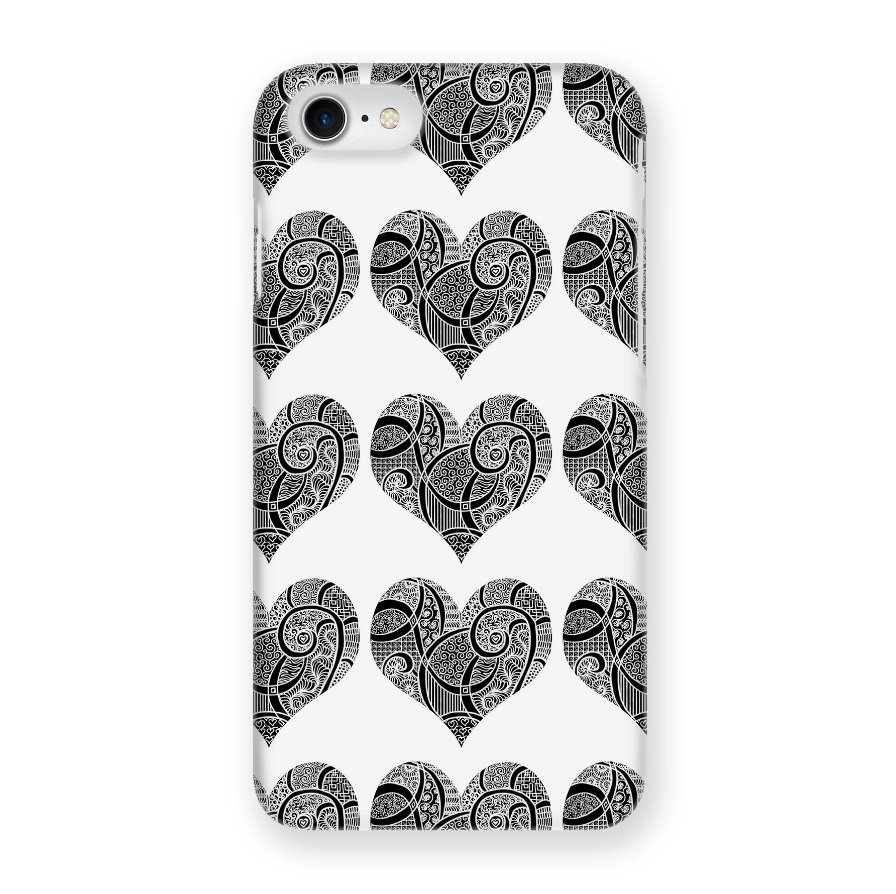 Чехол Mitya Veselkov Зентангл-сердца для Apple iPhone 7/8, IP7.MITYA-031, разноцветный чехол для iphone 5 mitya veselkov птички невелички