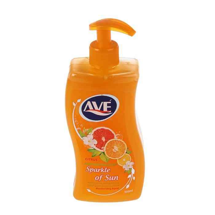 Жидкое мыло Ave Блеск солнца, с ароматом цитрусовых, 500 г kracie мыло жидкое для тела naive с ароматом цитрусовых сменная упаковка 380 мл