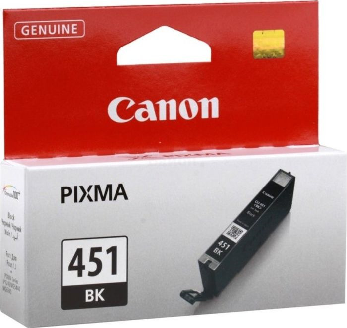 цена на Картридж Canon CLI-451BK для Canon Pixma iP7240/MG6340/MG5440, 747103, черный