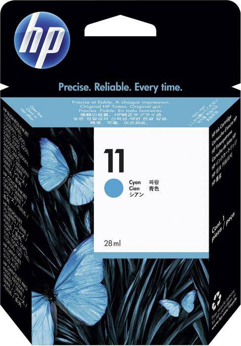 Картридж HP 11 (C4836A), голубой картридж струйный hp 56 c6656ae черный для hp pcs 2100 dj 5550 450 ps 7150 7350 7550 520стр