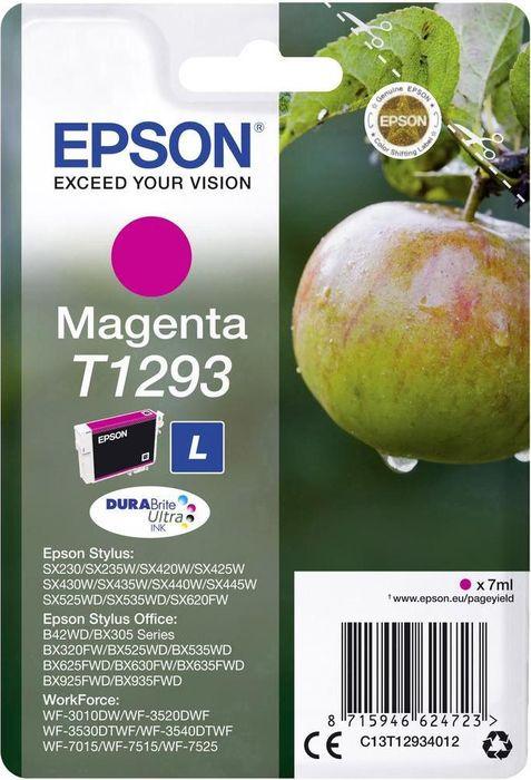 Картридж Epson T1293 (C13T12934012), пурпурный цены онлайн