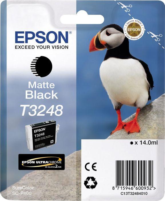 Картридж Epson T3248, матовый черный, для струйного принтера, оригинал цена