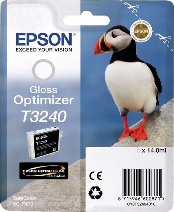 Картридж Epson T3240, глянец, для струйного принтера, оригинал цена