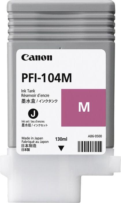 Картридж Canon PFI-104M, пурпурный, для струйного принтера, оригинал canon pfi 702pgy 2222b005