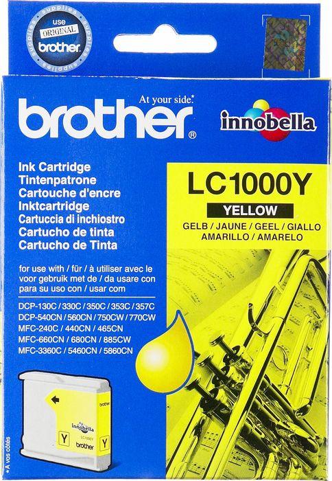Картридж Brother LC1000Y для Brother DCP-130/330, 70950, желтый картридж brother lc1000y для brother dcp 130 330 70950 желтый
