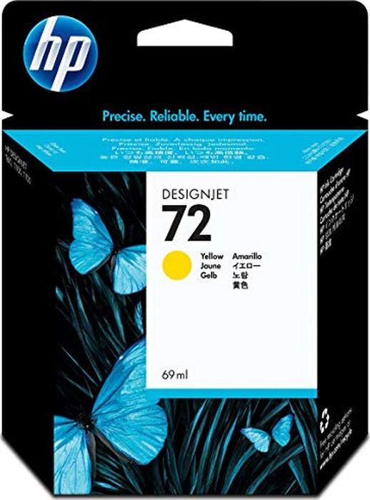Картридж HP 72, желтый, для струйного принтера hp c9502ae 56 black струйный картридж