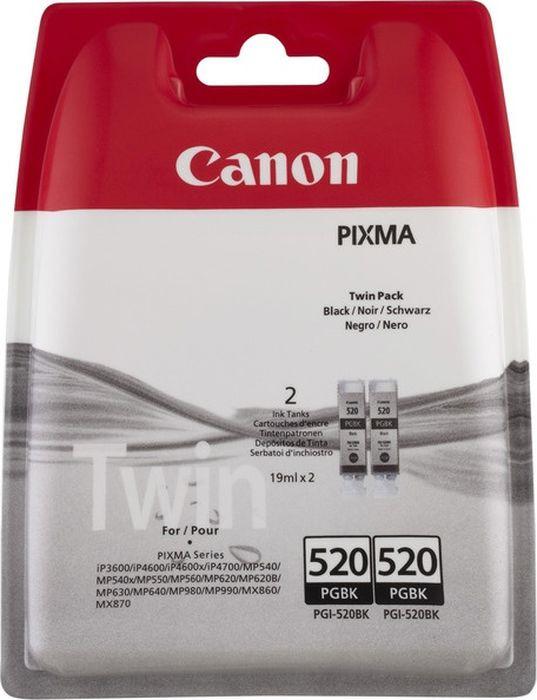 Картридж Canon PGI-520BK, черный, для струйного принтера, оригинал hi black canon pgi 520bk для pixma ip3600 4600 4700 mp540 620 980 black