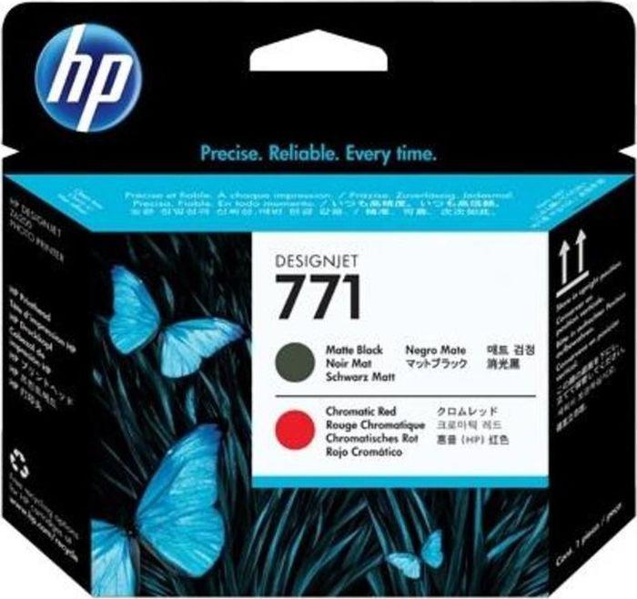 Печатающая головка HP 771 (CE017A), черный матовый, хроматический красный печатающая головка hp 744 f9j88a для hp designjet z2600 z5600 черный матовый красный