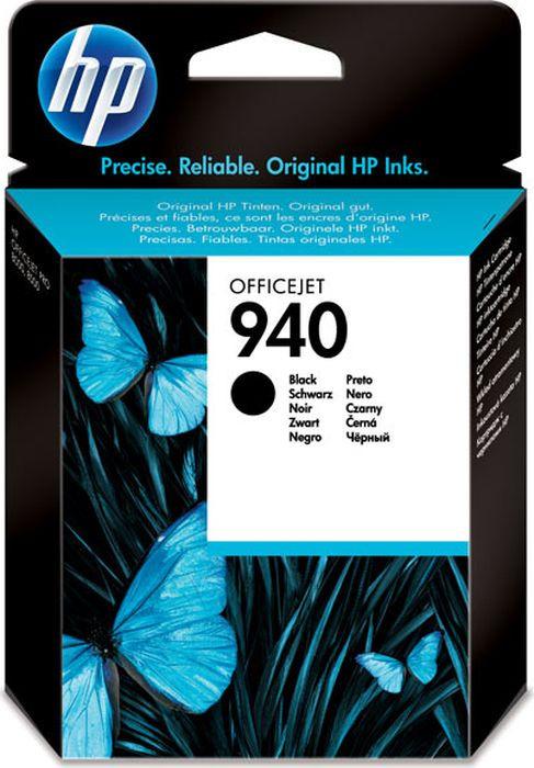 Картридж HP 940, черный, для струйного принтера, оригинал hp c9502ae 56 black струйный картридж