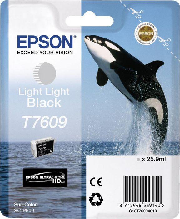 Картридж струйный Epson T7609 C13T76094010 для Epson SureColor SC-P600, Light Light Black vilaxh for epson p600 chip resetter for epson surecolor sc p600 printer t7601 t7609 cartridge resetter