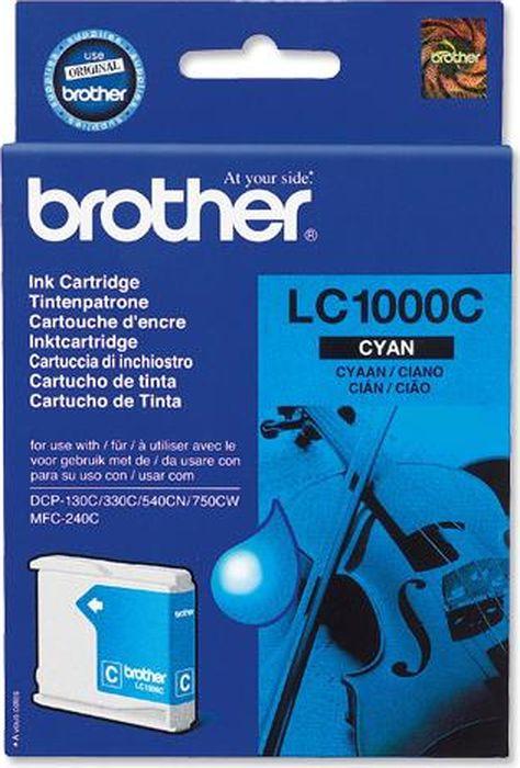 Картридж Brother LC1000C для Brother DCP-130/330, 70948, голубой картридж brother lc1000y для brother dcp 130 330 70950 желтый