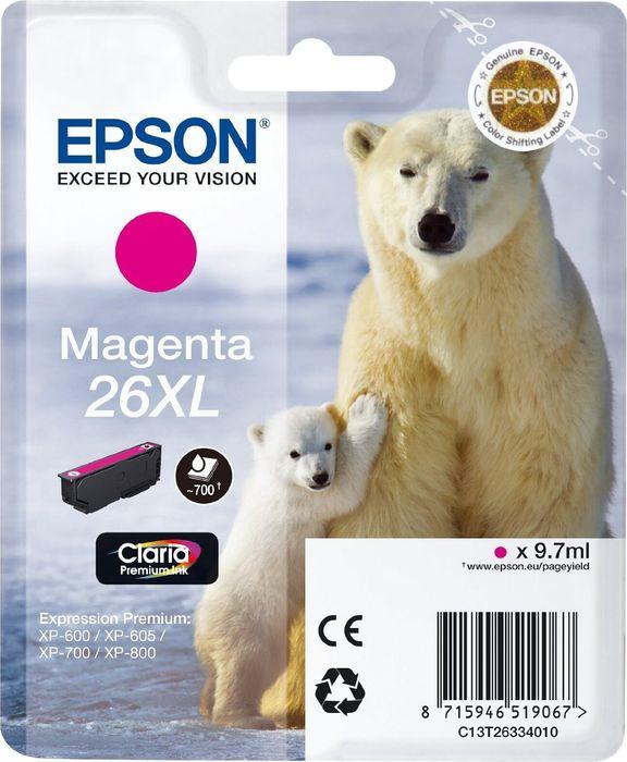 Картридж Epson 26XL (C13T26334012), пурпурный цены