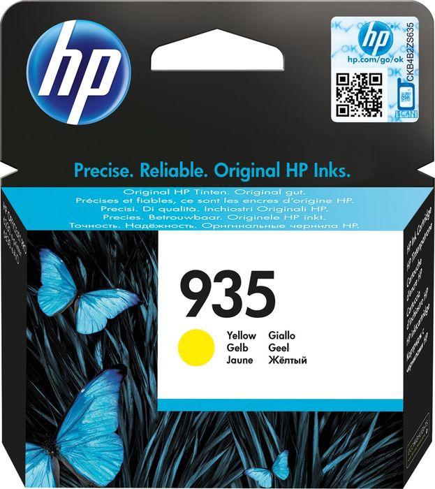 Картридж HP 935, желтый, для струйного принтера hp c9502ae 56 black струйный картридж