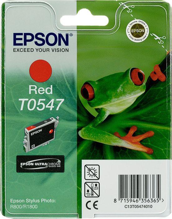 Картридж струйный Epson T0547 C13T05474010 для Epson R800/1800, Red картридж epson c13t06334a10