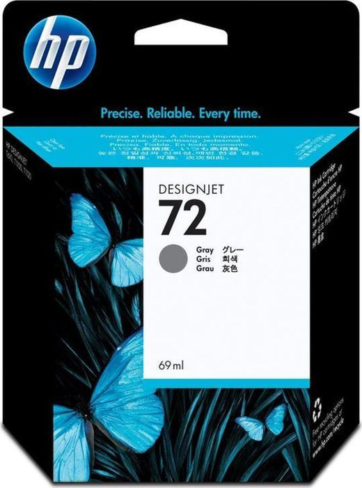 цена на Картридж HP 72, серый, для струйного принтера, оригинал