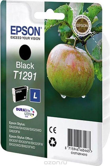 Картридж струйный Epson T1291 C13T12914012 для Epson SX420W/BX305F, Black картридж epson c13t06334a10