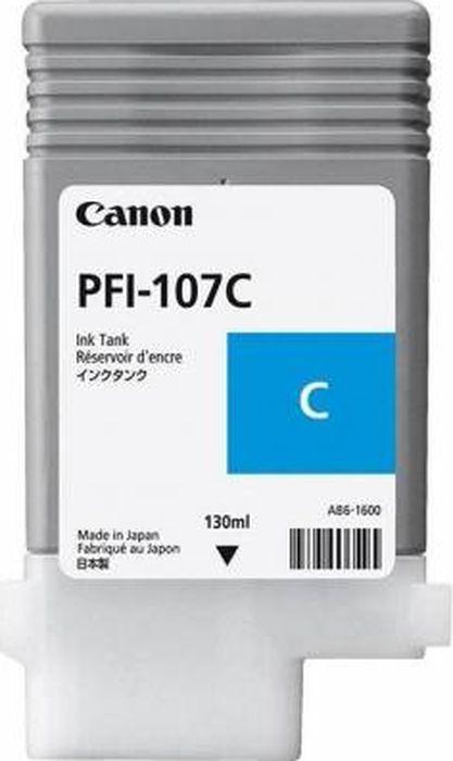 цена Картридж Canon PFI-107C, голубой, для струйного принтера, оригинал