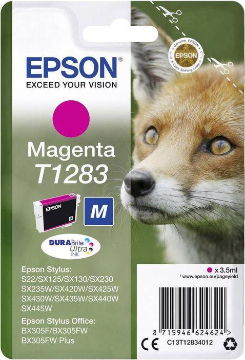 Картридж Epson T1283, пурпурный, для струйного принтера цена