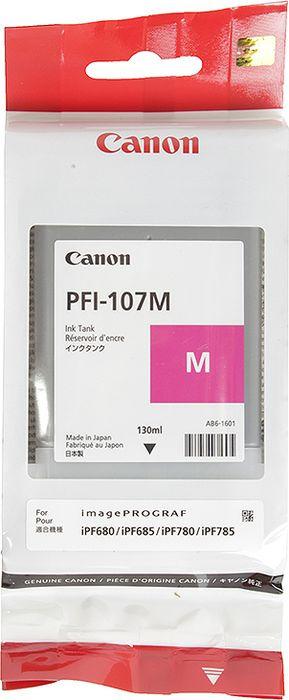Картридж Canon PFI-107M, пурпурный, для струйного принтера, оригинал цена и фото