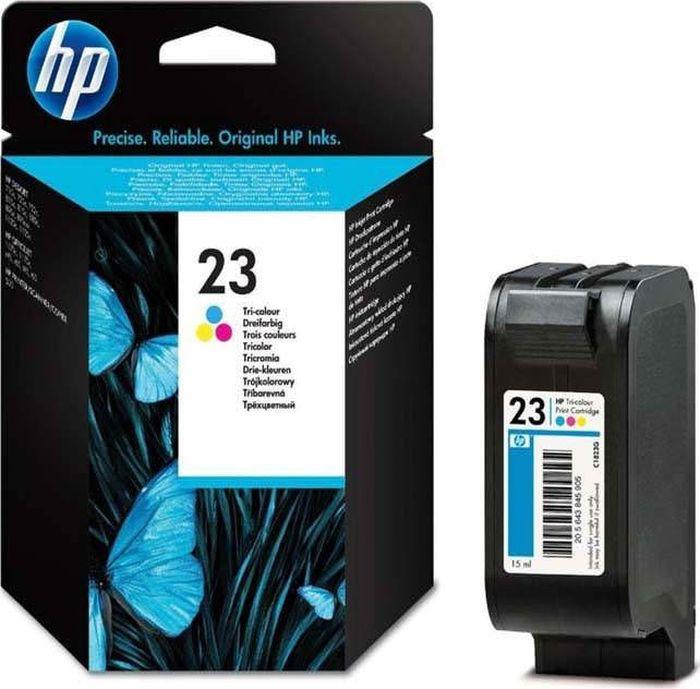 купить Картридж HP 23 (C1823D), голубой, пурпурный, желтый онлайн