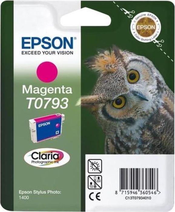 Картридж струйный Epson T0793 C13T07934010 для Epson Stylus Photo P50/PX660, Magenta картридж original epson [t034340] для epson stylus photo 2100 magenta