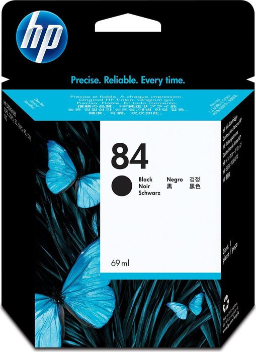 Картридж HP 84, черный, для струйного принтера, оригинал hp c9502ae 56 black струйный картридж