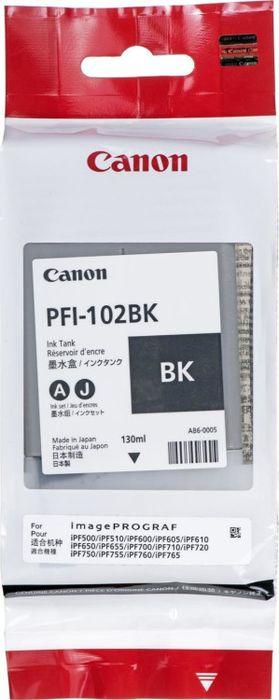 Картридж струйный Canon PFI-102BK 0895B001 для Canon IP iPF500/600/700/710, Black цена