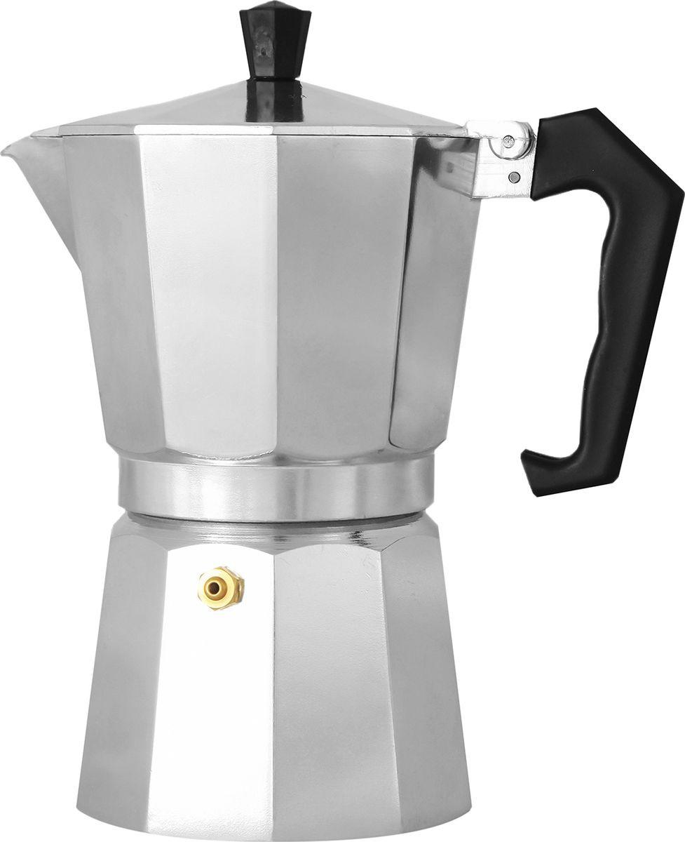 Кофеварка гейзерная Italco Express, 201600, серый, на 6 чашек гейзерная кофеварка italco express алюминий