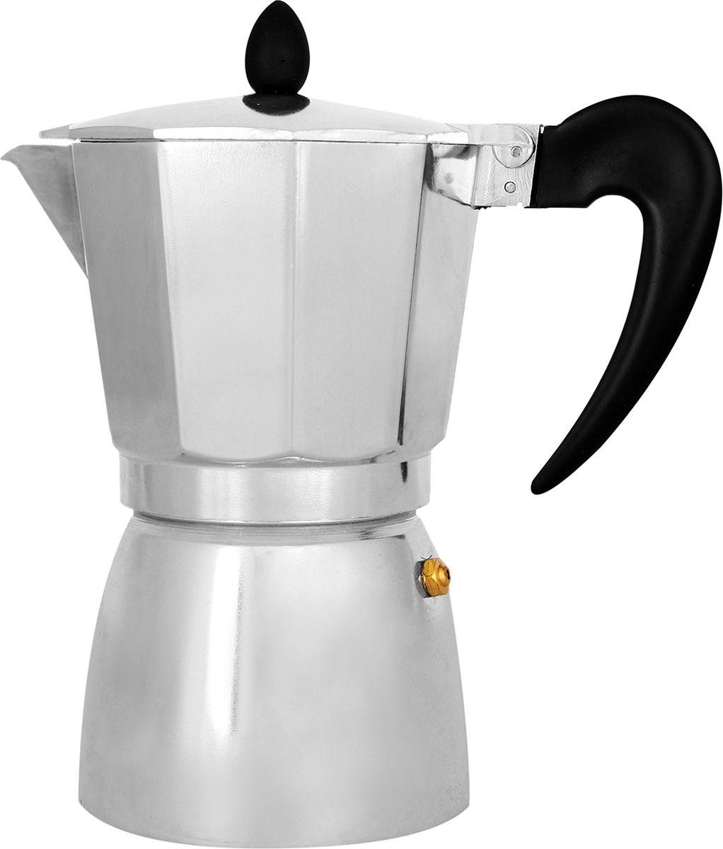 Кофеварка гейзерная Italco Soft, 275600, серый, на 6 чашек гейзерная кофеварка italco express алюминий