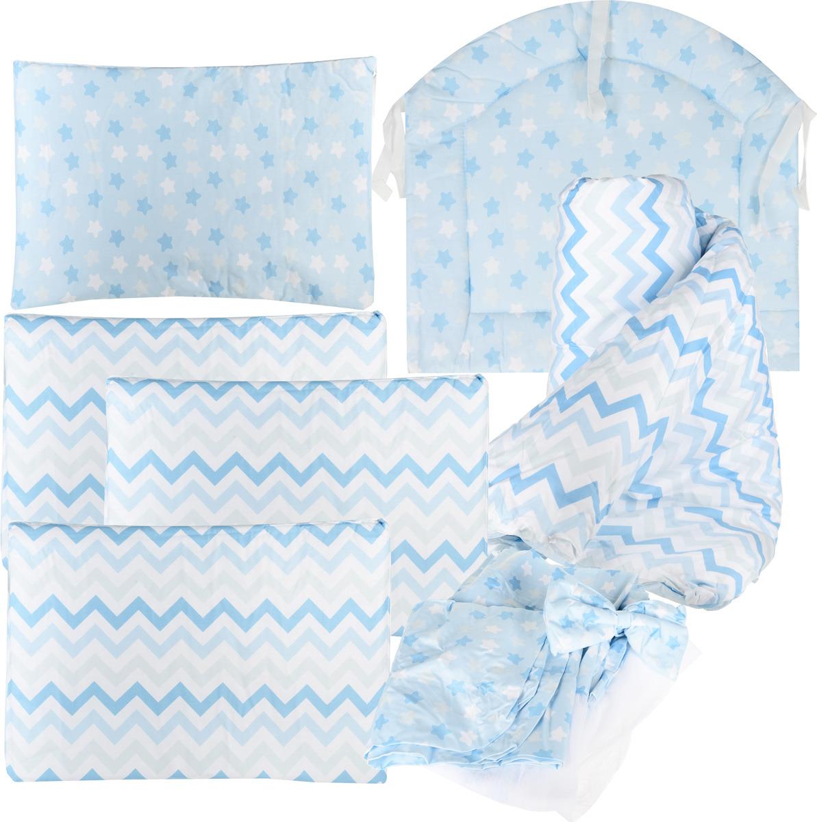 Комплект в кроватку Sweet Baby Stelle, 410682, голубой, 7 предметов