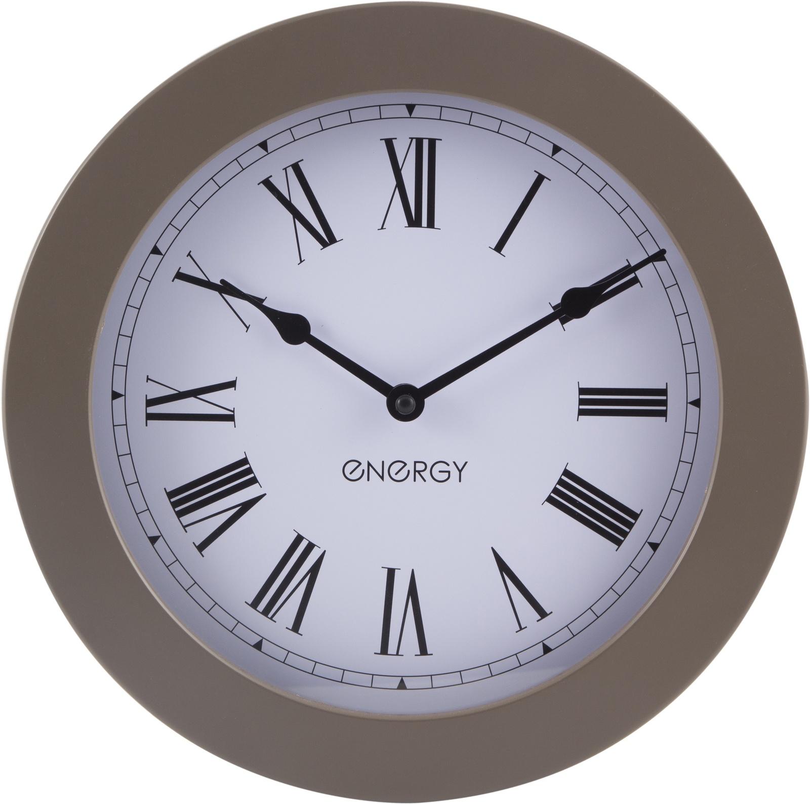 Настенные часы Energy ЕС-114, круглые, золото цена 2017