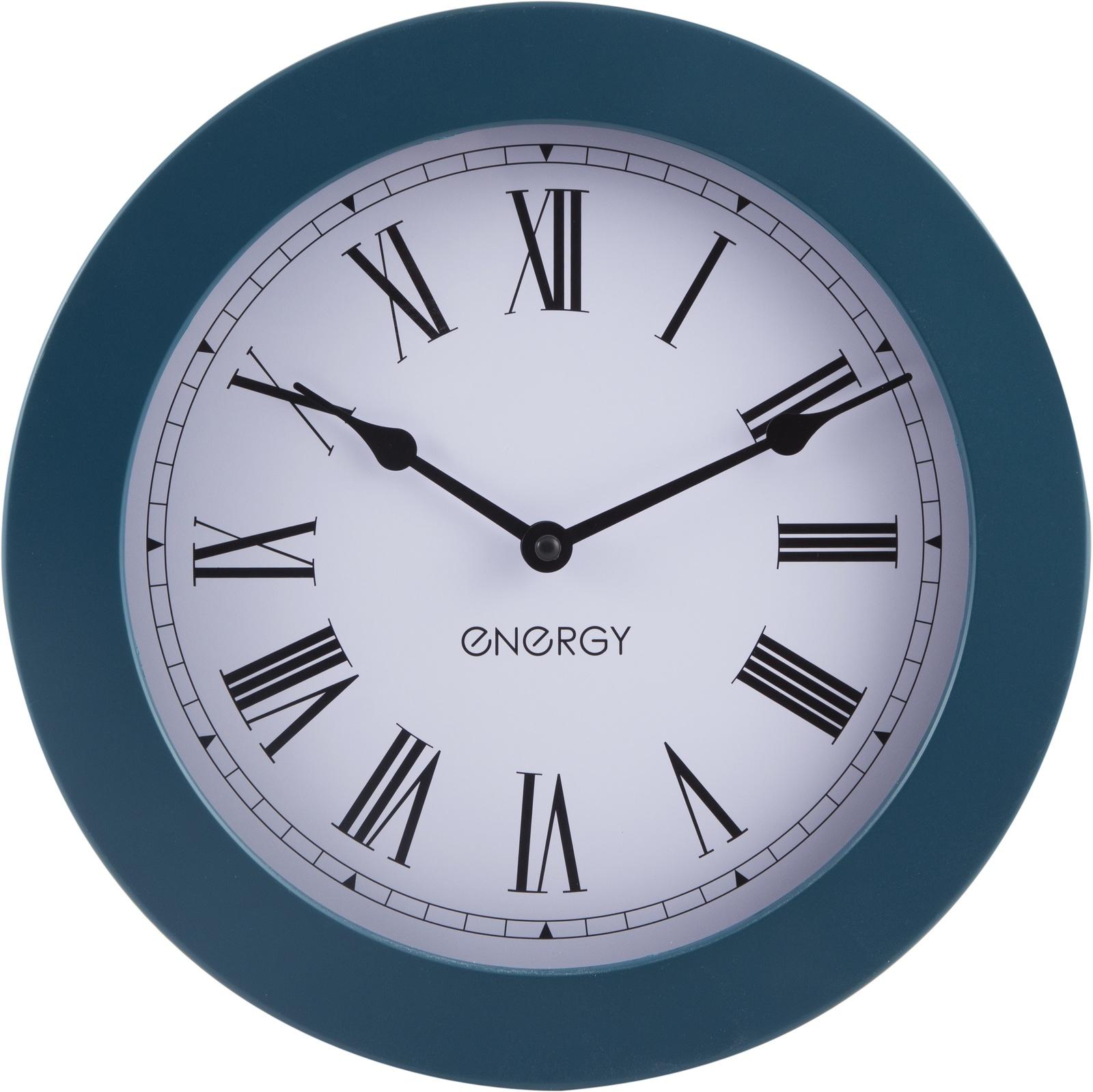 Настенные часы Energy ЕС-114, круглые, синий цена 2017