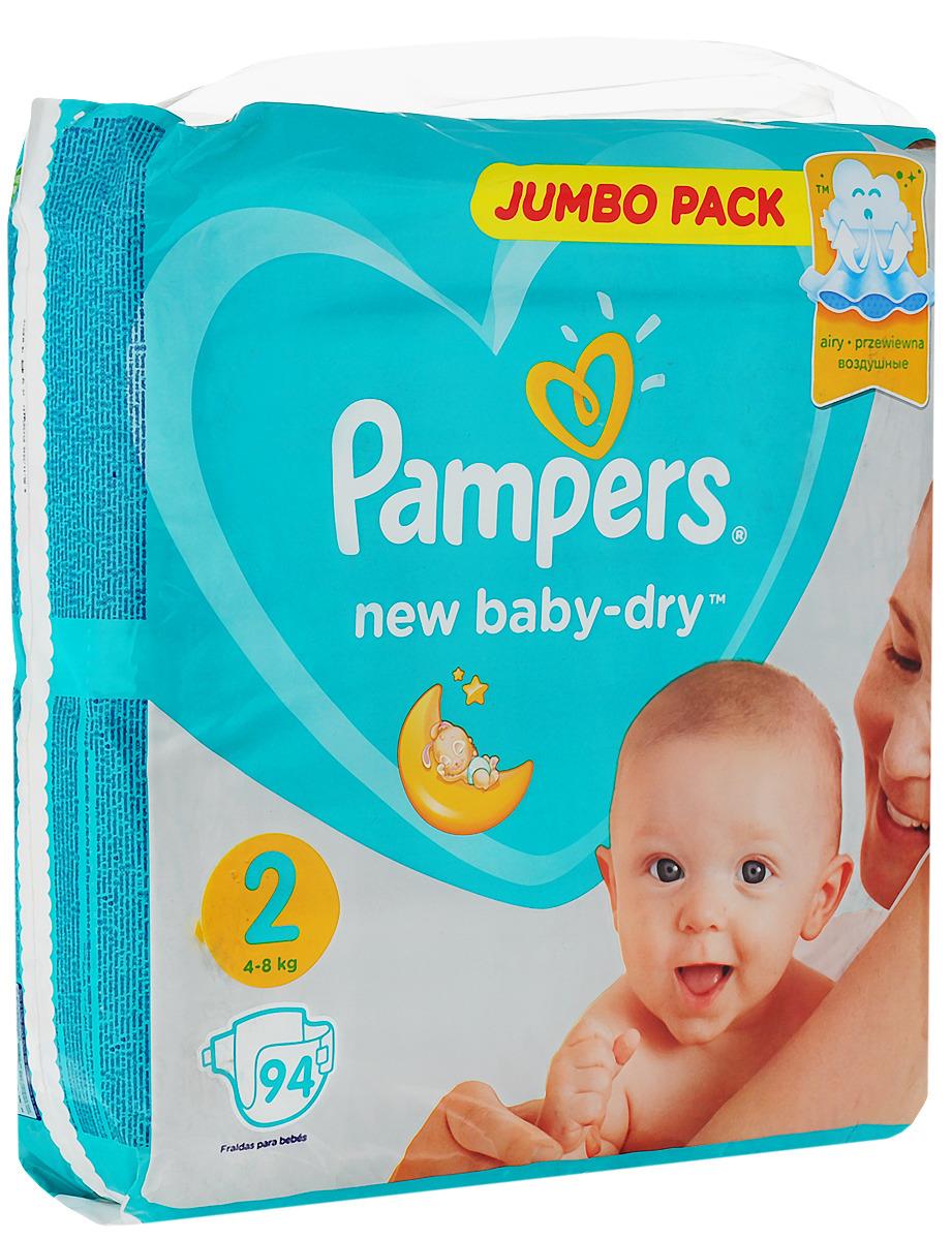 Подгузники Pampers New Baby-Dry, размер 2, 4-8 кг, 94 шт