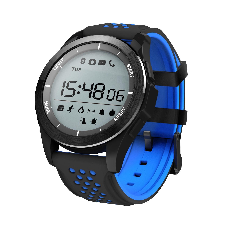 Умные часы NO.1 NO.1F3, черный, синий
