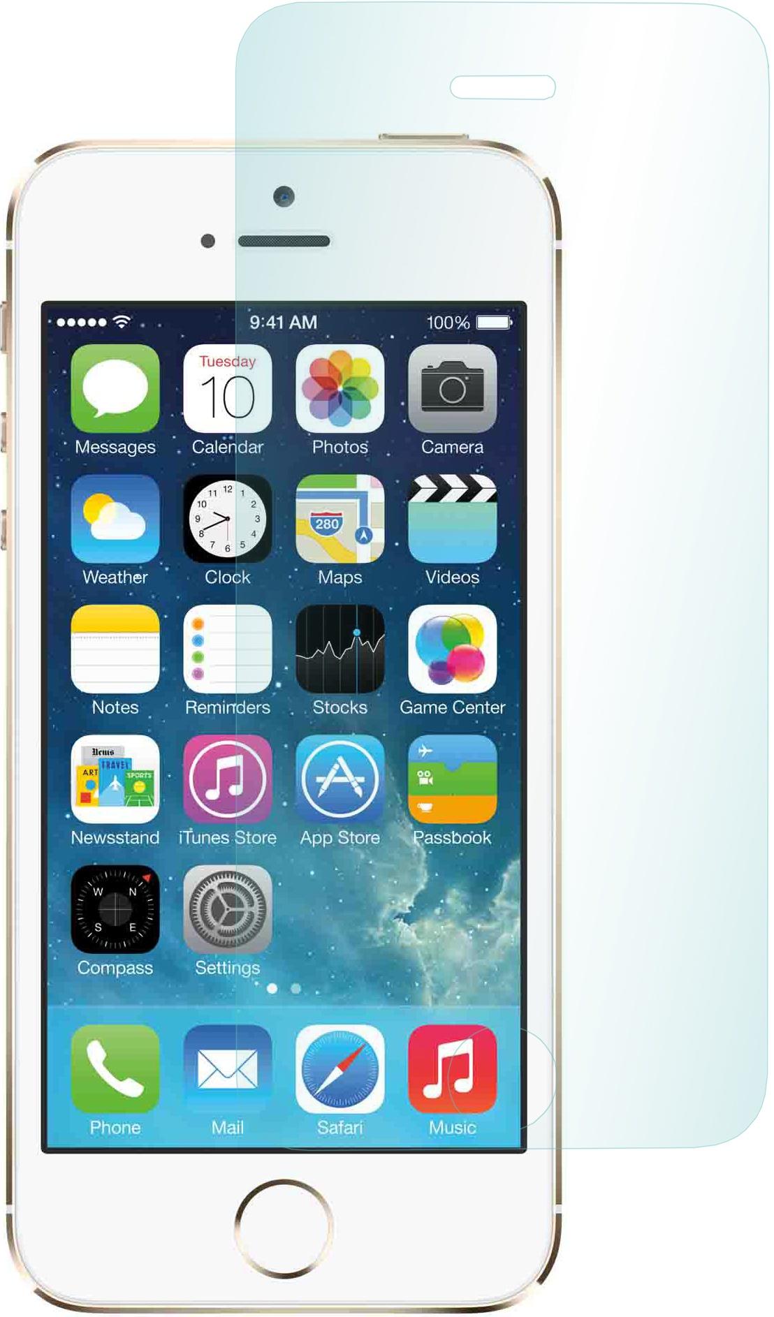 Защитное стекло Apple, для iPhone 5/5S, 2000000086644, прозрачный защитное стекло полноклеевое full screen для apple iphone 5 5c 5s se черное