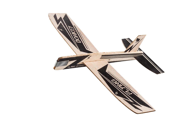 Деревянный сборный самолетик Donkey Looping stars Donkey Express, DO900113, черный линейка 0 3x7x31 donkey