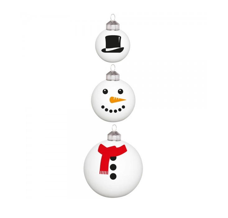 Набор из 3 елочных шариков FrostyDO300993Материал: стекло. Размер: длина 7, ширина 7, высота 8. Цвет: белый