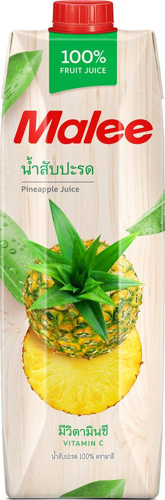 Malee Сок ананас прямого отжима, 1 л
