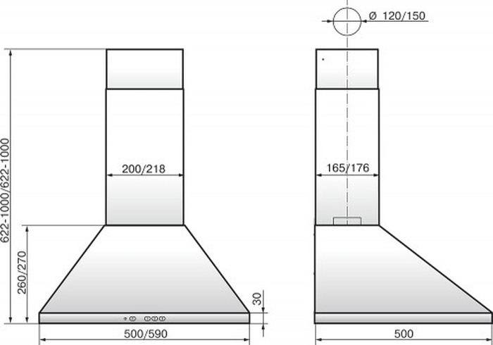 Встраиваемая вытяжка Elikor Вента 60П-650-К3Д, черный Elikor